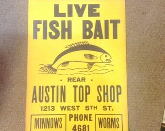 1930s Original Advertising Broadside Poster Austin Texas Very Good Condition Cardboard
