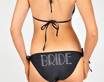 CLEARANCE - Bride Rhinestone Bikini - Black Size SMALL - New - Overstock Sale