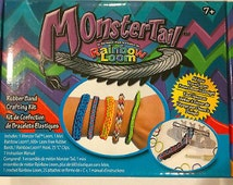 Guaranteed Authentic Rainbow Loom ** Monster Tail Loom Kit ** 600 Multi-colored bands. 24 c-clips.