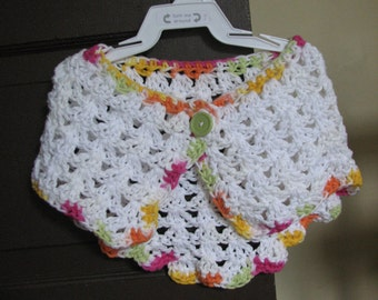 Elegent Little Girl Shawl -- Size 2T, Fun Playtime Shawl, Pretty Going-to-Dinner Shawl, Special Occasion Accessory
