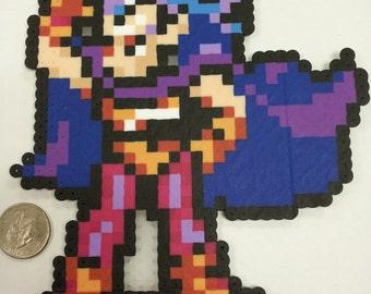 Chrono Trigger Magus casting a spell perler bead sprite