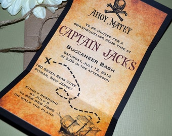 Pirate Map Invitation