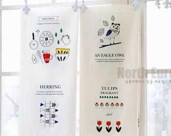 Scandinavian Nordic Swedish Fabric Cotton 100% Panel, 8 Designs Fabric Package
