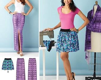 Misses' Short Skirt Simplicity Pattern 1368
