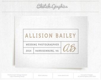 """Pre-made Logo Design - Vintage Logo Design - """"Allison Bailey Photography"""""""
