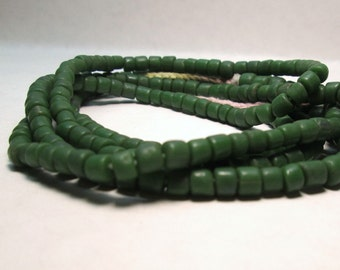 Dark Forest Green Glass Bead 4-6mm Indonesian Recycled Glass bead