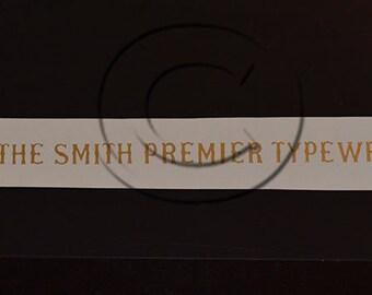 Smith Premier 1 Typewriter Water Slide Decal