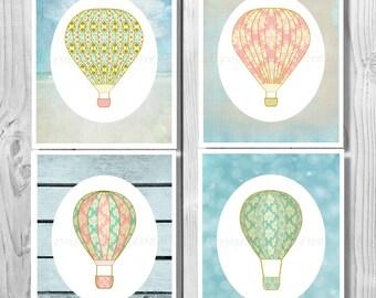 Hot Air Balloon Nursery, Hot Air Balloon Printable, Hot Air Balloon Decor, Hot Air Balloon Decoration, Hot Air Balloon, Nursery Decor 0207
