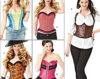 Simplicity Pattern 1345 Misses' Corsets and ruffled Shrug