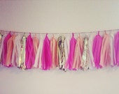 Choose Your Colors Tissue Tassel Banner