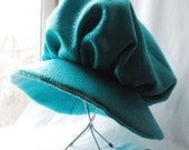 Wide Brimmed Renascence Hats in Shiny Blue