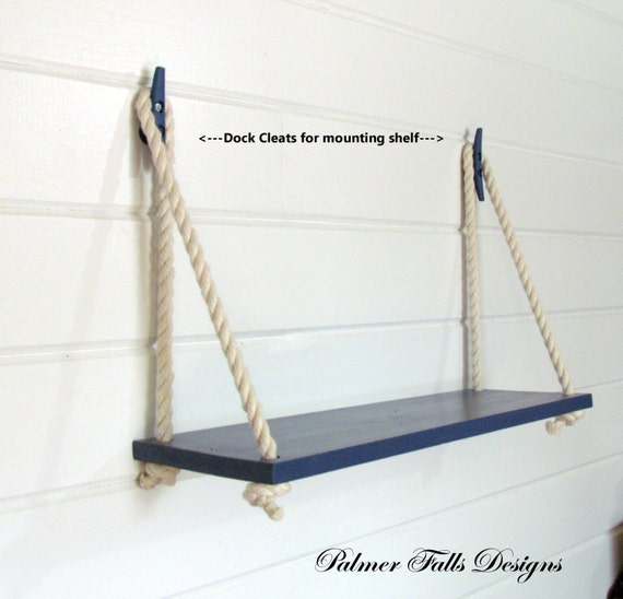 Swing Rope Shelf / Nautical Nursery / Beach House / Lake House / Nautical  Shelf / Nautical Decor / Bathroom Shelf / Kitchen Shelf