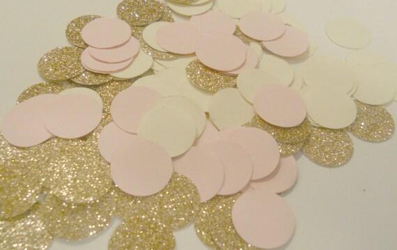 225 rose gold blush pink cream confetti glitter confetti, Baby shower invitations