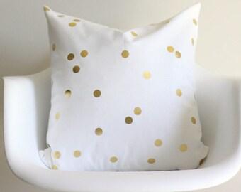 Gold Confetti 20x20 Throw Pillow Cover