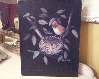 Vintage Black Empty Nest Print.............8 1/2 x 11