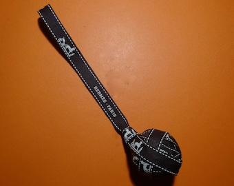 Pompom bag charm made of Hermès Bolduc Ribbon pendant from Hermes belt for bag (size 2)