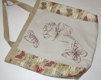 Handmade Linen Bag with Silk Embroidery