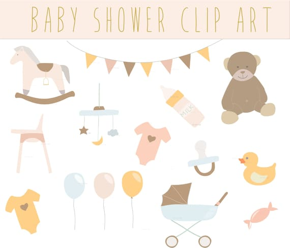 Baby Shower Vintage Clip Art Clipart. cute Baby Shower