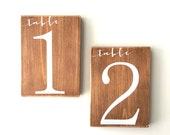 Wedding table numbers, wedding reserved signs