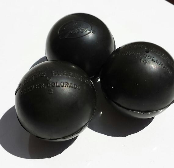 3 Vintage Rubber Balls Ad Gates Rubber Company Denver Co