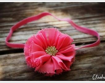 Frayed Flower Headband