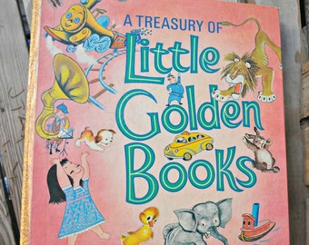A Treasury of Little Golden Books, 48 best loved stories, Deluxe Golden Book, 1972