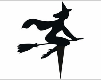 Halloween Witch3 Cake Topper From 50mm to 250mm  Plus 30mm Spike You choose colour, FREE SHIPPING