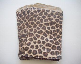 "100 - 4""x6"" Cheetah Print Merchandise Flat Bags"