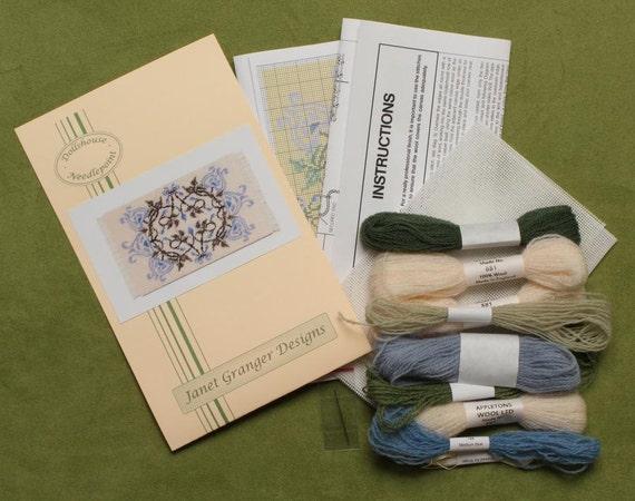 Dollhouse Carpet Rug Kit Needlepoint Embroidery Kit