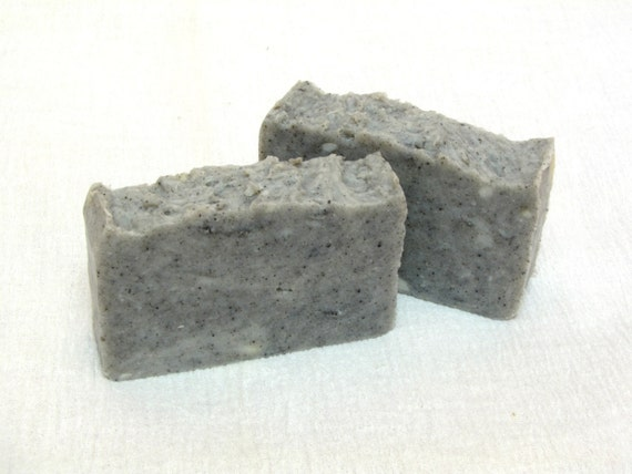 Black Clay, Natural Soap, Handmade Soap, Hot Process Soap, homemade soap, for Troubled Skin, organic soap, Facial Soap, Black soap