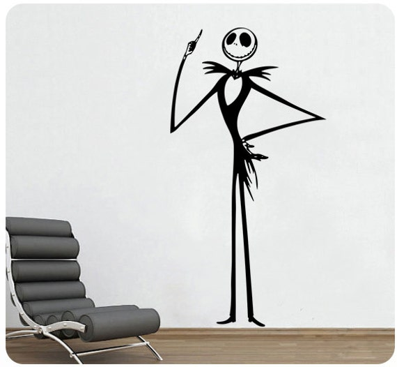 Nightmare before christmas jack skellington wall decal sticker for Christmas wall mural plastic