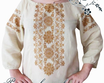 """Hand-Embroidered Ethnic """"Elegia"""" blouse, made-to-order"""