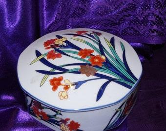Lovely Vintage Tiffany and Co Porcelain Trinket Box Large - Use Coupon Code 2BEBBUY and Get 20 % Off  20.00 Min