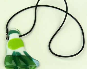 Glass Pendant Necklace. Made in Italy.