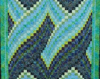 Twisted Bargello Quilt - Free Shipping to US locations