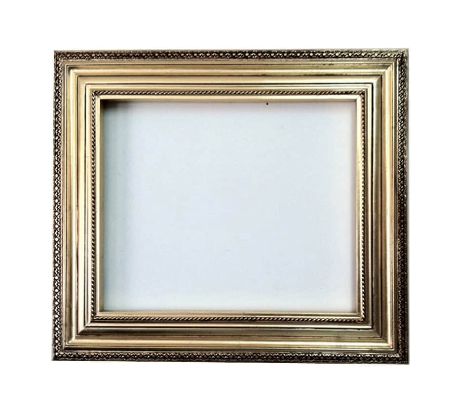 20x24 decorative wall mirror frame in bright gold leaf bronze for Unique wall frames