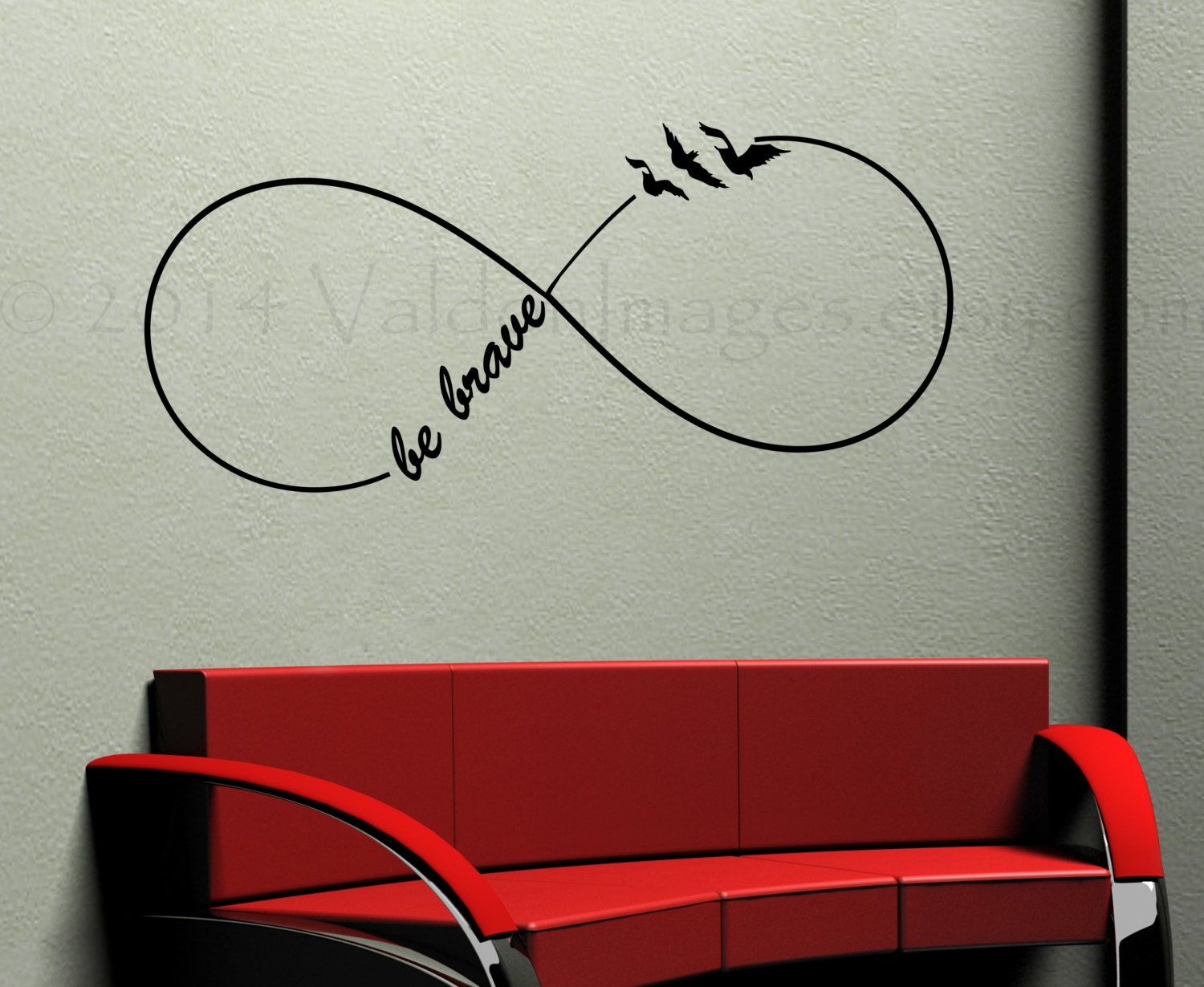 Be brave infinity wall decal bird wall decal bedroom wall zoom amipublicfo Choice Image