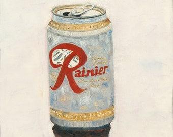 Rainier Beer Can - Giclee Print