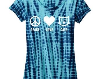 FCCRSNC 'Peace. Love. Cats.' Ladies Shirt