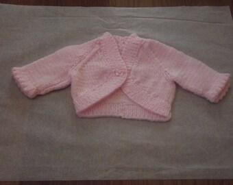 bolero hand knitted plain