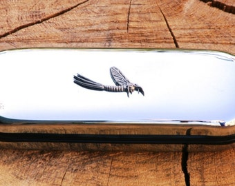 Mayfly Metal Pen Case & Ball Point Set Personalised Engraved Gift