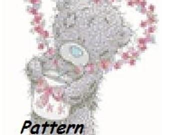 Teddy bear 7. Cross Stitch Pattern. PDF Files.
