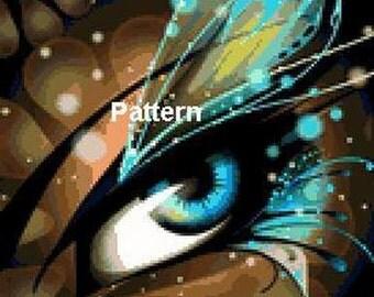 Fairy eye. Cross Stitch Pattern. PDF Files.