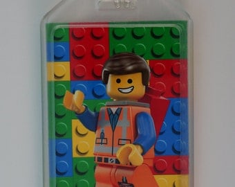 Personalized/customized luggage/bag tag - Lego the movie (COMES IN PAIRS; 2 for 12)
