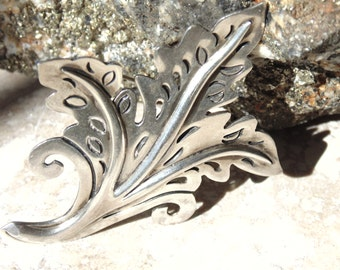 Serafin Moctezuma Taxco Sterling Silver Pierced Brooch