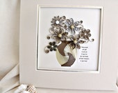 wall art combining quilling and iris folding – ready to frame