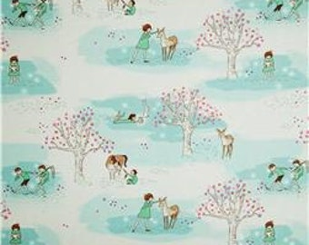 Blackout Curtains, Nursery Curtains, Baby, Baby Girl, Michael Miller's Wee Wander, Nursery, Deer, Woodland, Blackout Window Curtain Panels