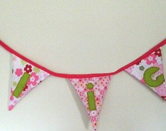 Personalised Room Bunting  - 3 letter name