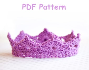 Free Crochet Pattern For Newborn Tiara : Popular items for baby crown pattern on Etsy