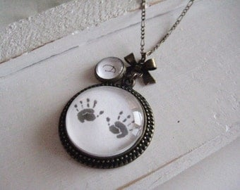 Everlasting Handprints Necklace, Customizable, handprint necklace, baby loss, infant loss, child loss, memorial gift, baby loss gift